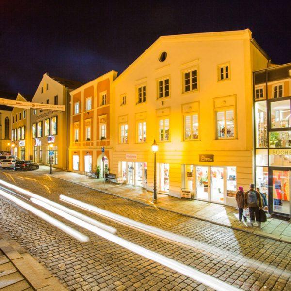 Stadt Freyung bei Nacht